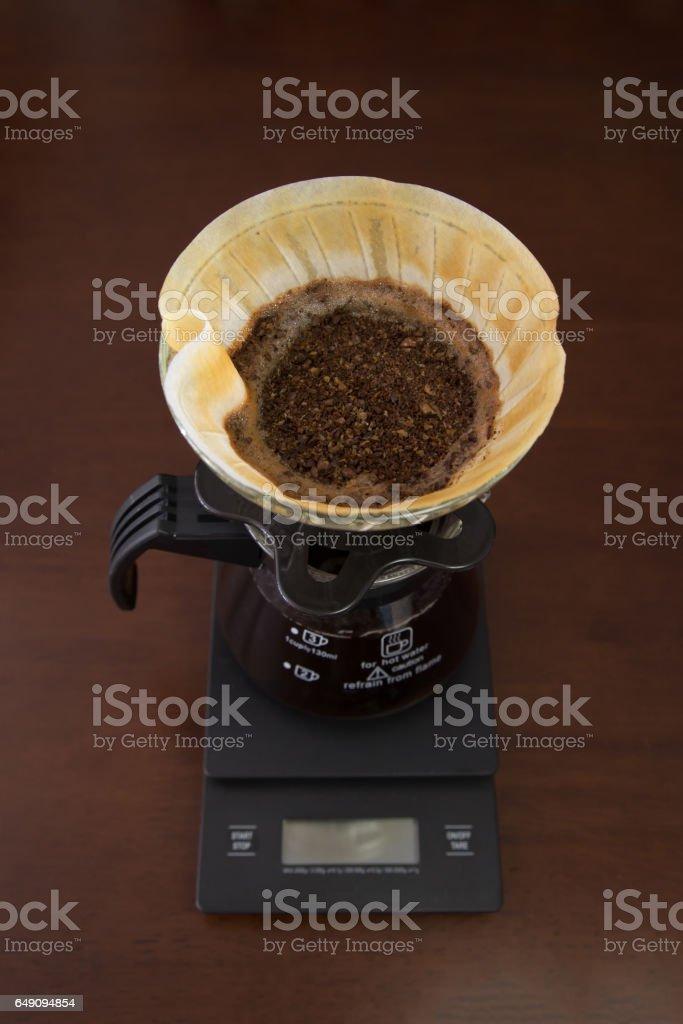 Drip brewing coffee stock photo