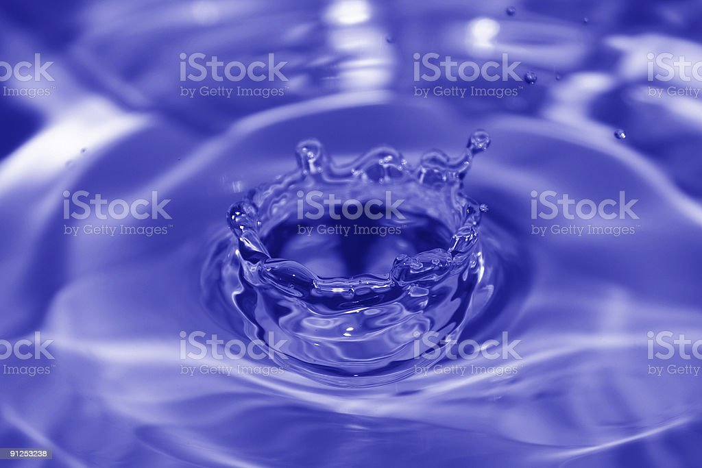 Drip Crown (Blue) royalty-free stock photo
