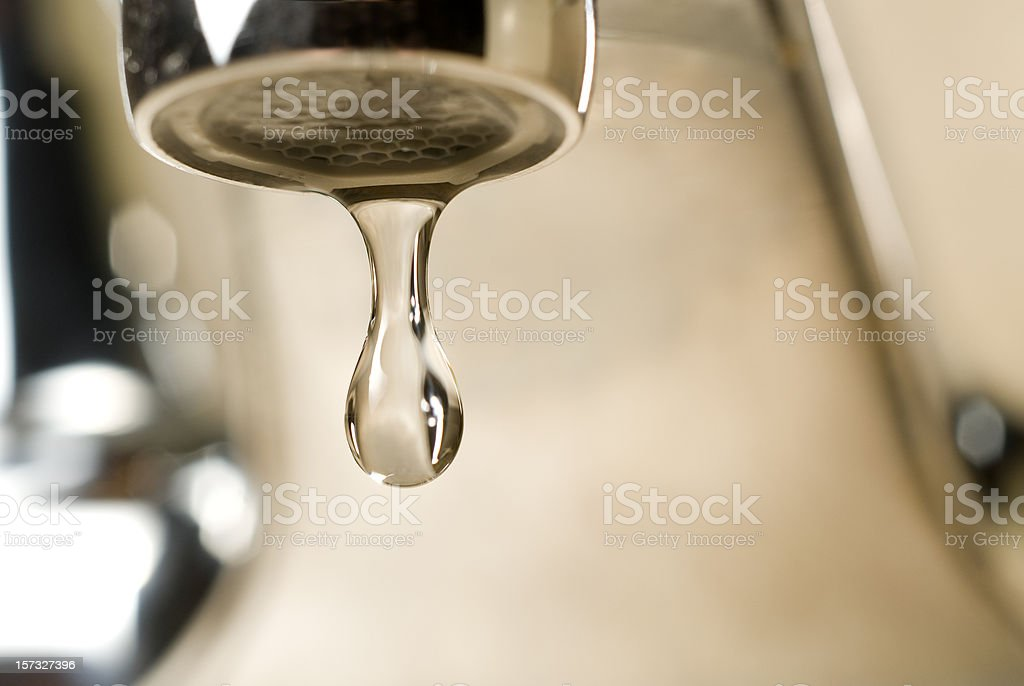 Drip Goes the Faucet stock photo