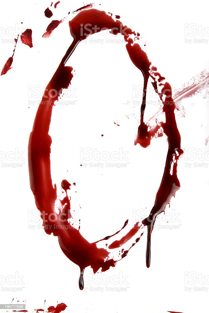 Dripping Bloody Alphabet 0 royalty-free stock photo