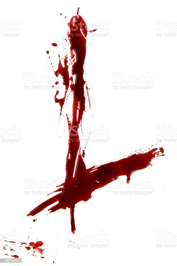 Dripping Bloody Alphabet L royalty-free stock photo