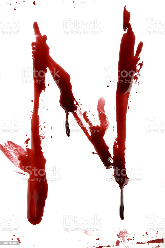 Dripping Bloody Alphabet royalty-free stock photo