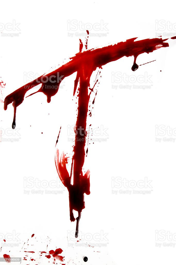 Dripping Bloody Alphabet T royalty-free stock photo