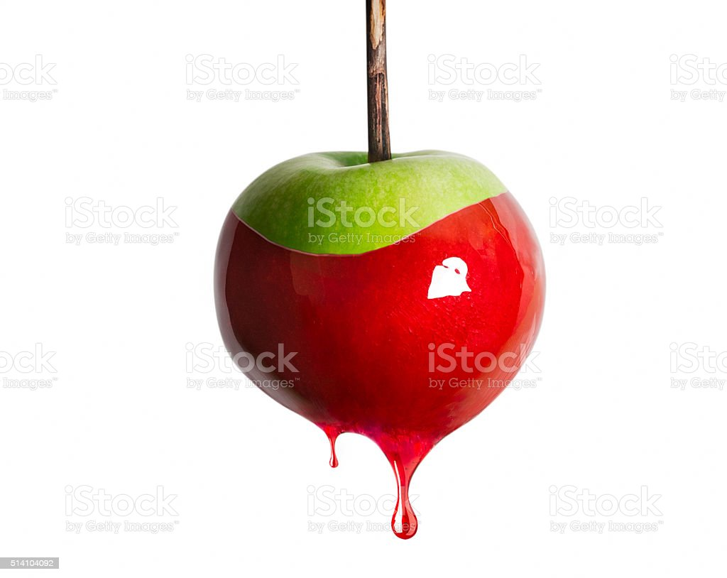 Dripping Candy Apple stock photo