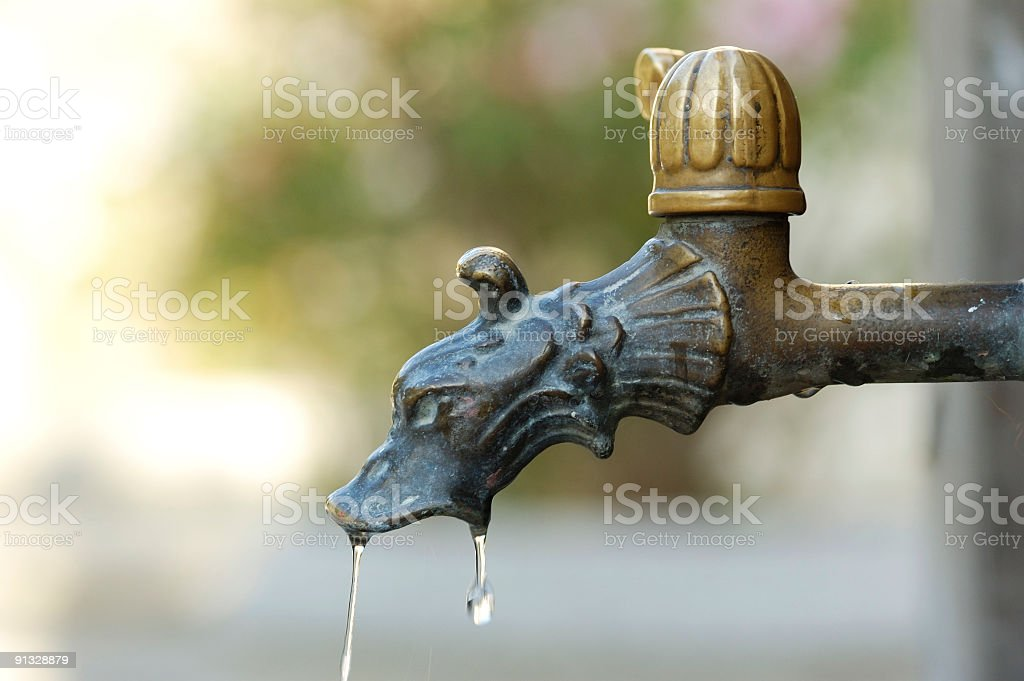 Dripping Faucet royalty-free stock photo