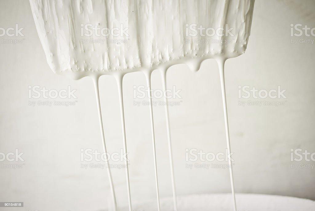 dripping paintbrush stock photo