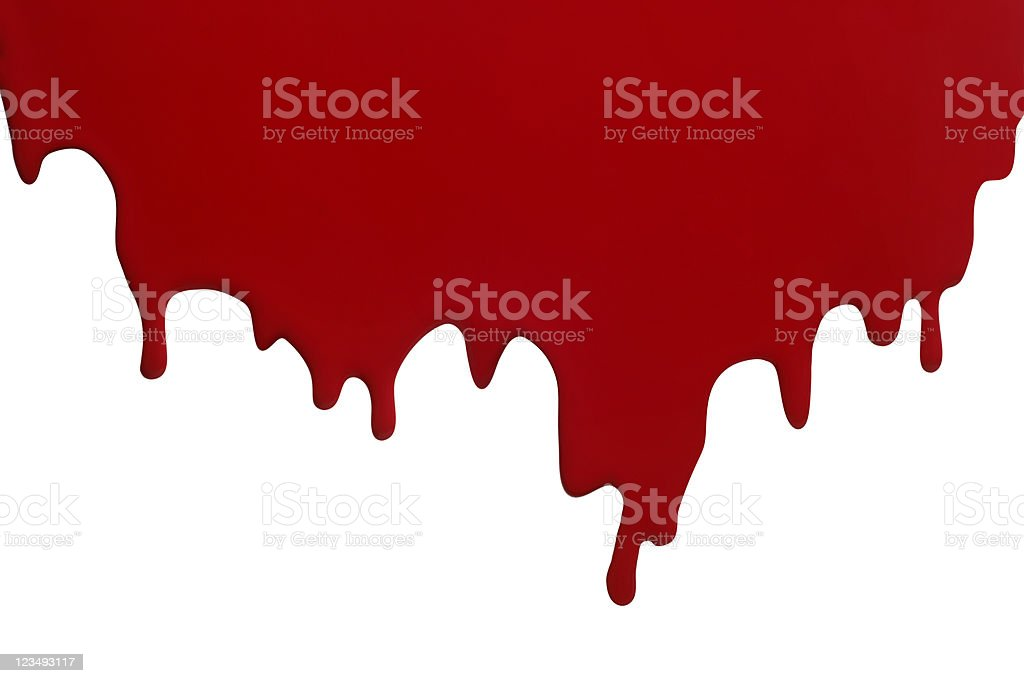 dripping red paint or blood stock photo