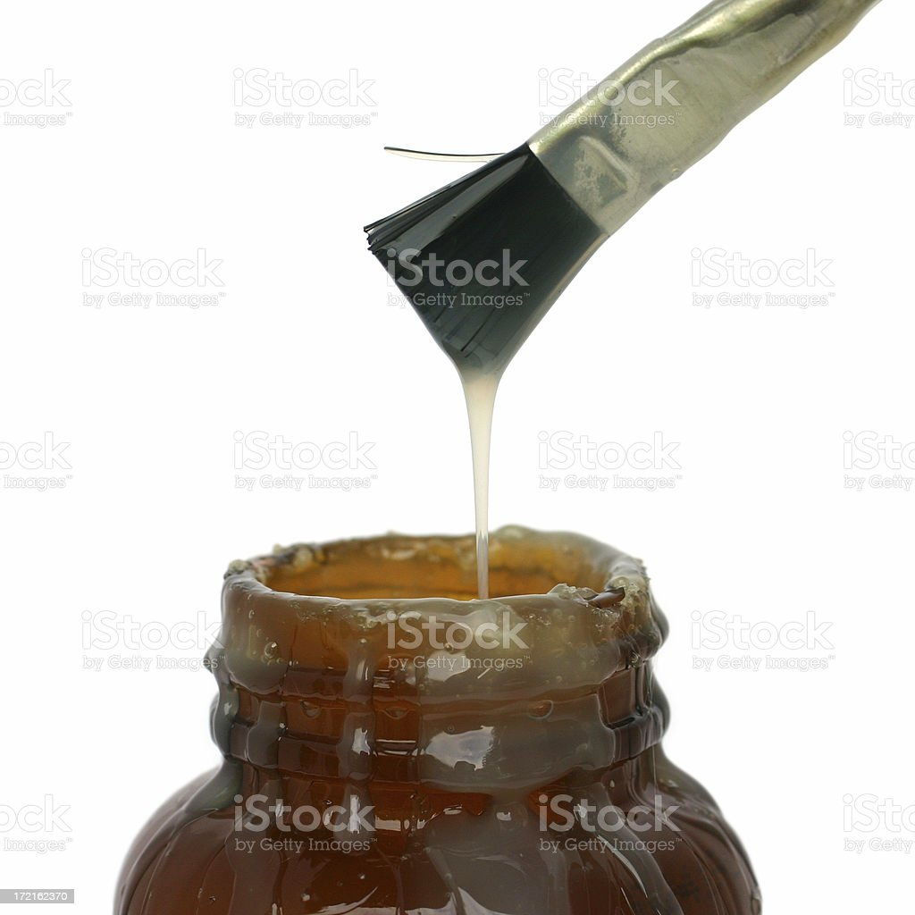 Dripping Rubber Cement stock photo