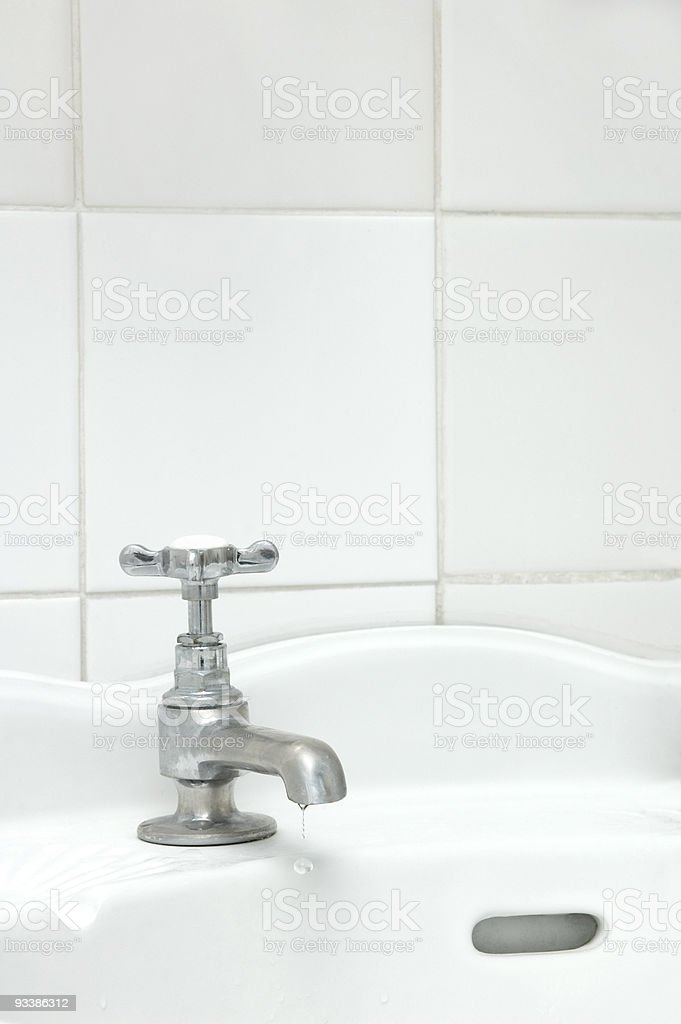 Dripping tap stock photo