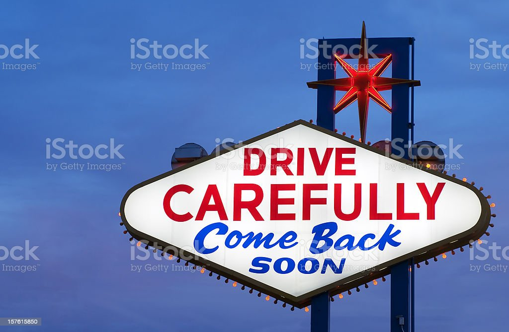 Drive Carefully Sign stock photo