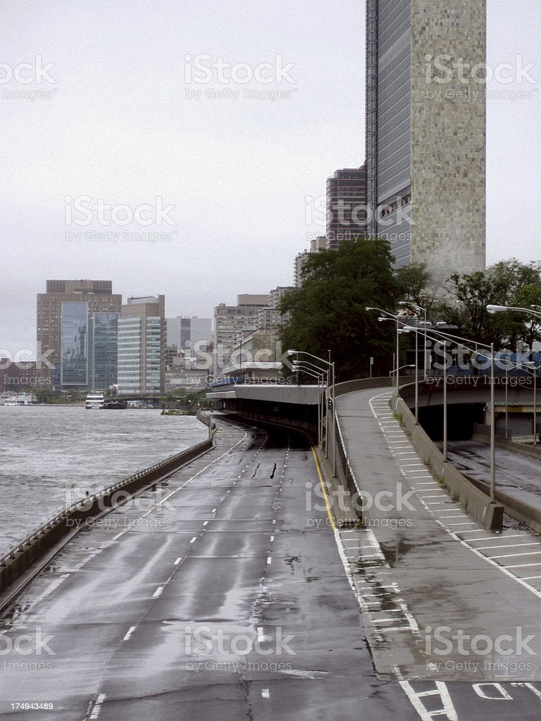 FDR Drive Closed - No Cars in New York stock photo