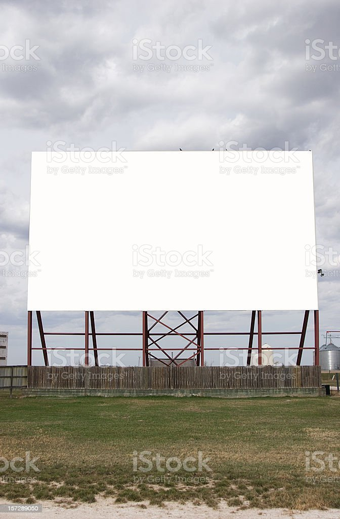 Drive in Movie royalty-free stock photo