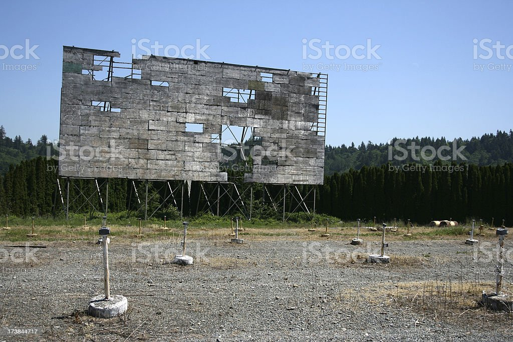 Drive In Movie Screen stock photo