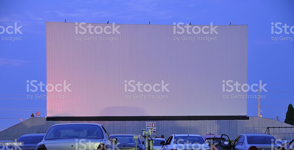 Drive In Movie Theatre royalty-free stock photo