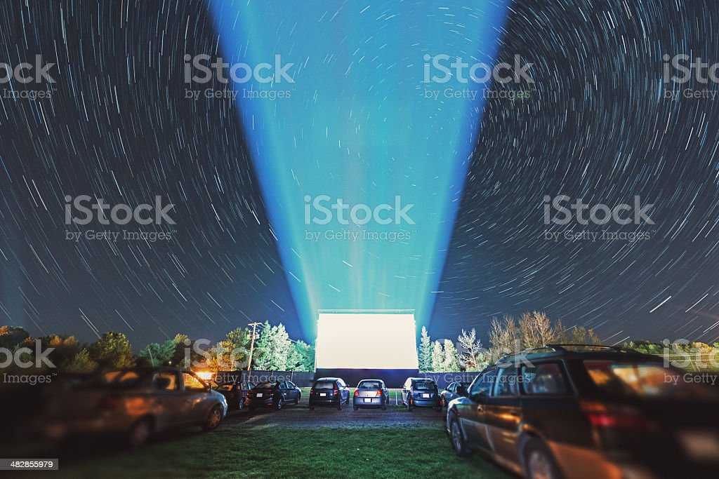 Drive In Movie Theatre stock photo