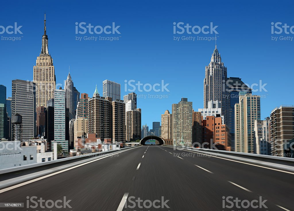Drive in New York City stock photo