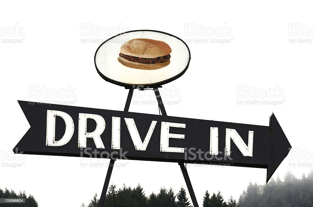 Drive In Sign stock photo