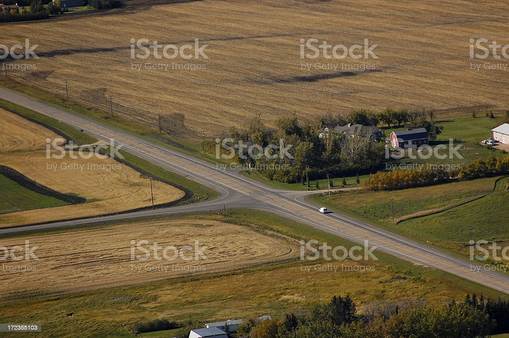 Drive in the Country royalty-free stock photo