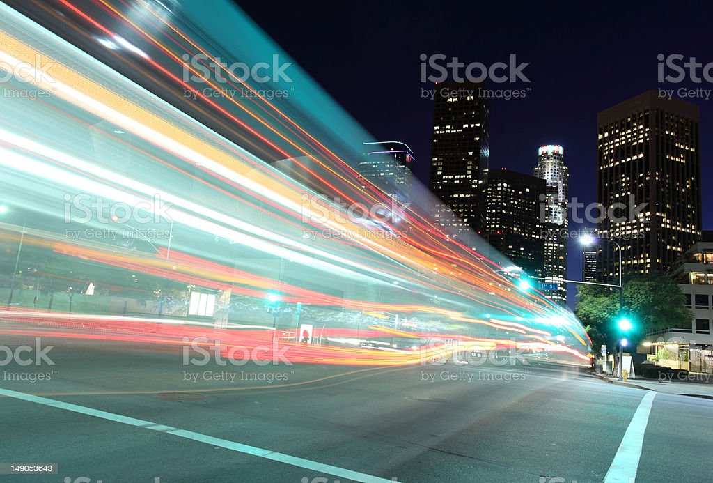 Drive into the city stock photo