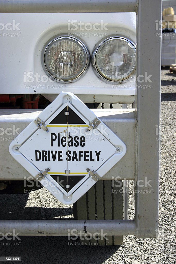 Drive Safely royalty-free stock photo