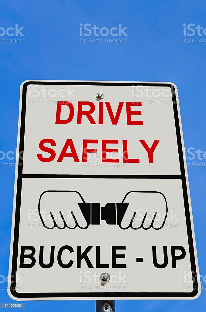 Drive Safely Warning Sign stock photo