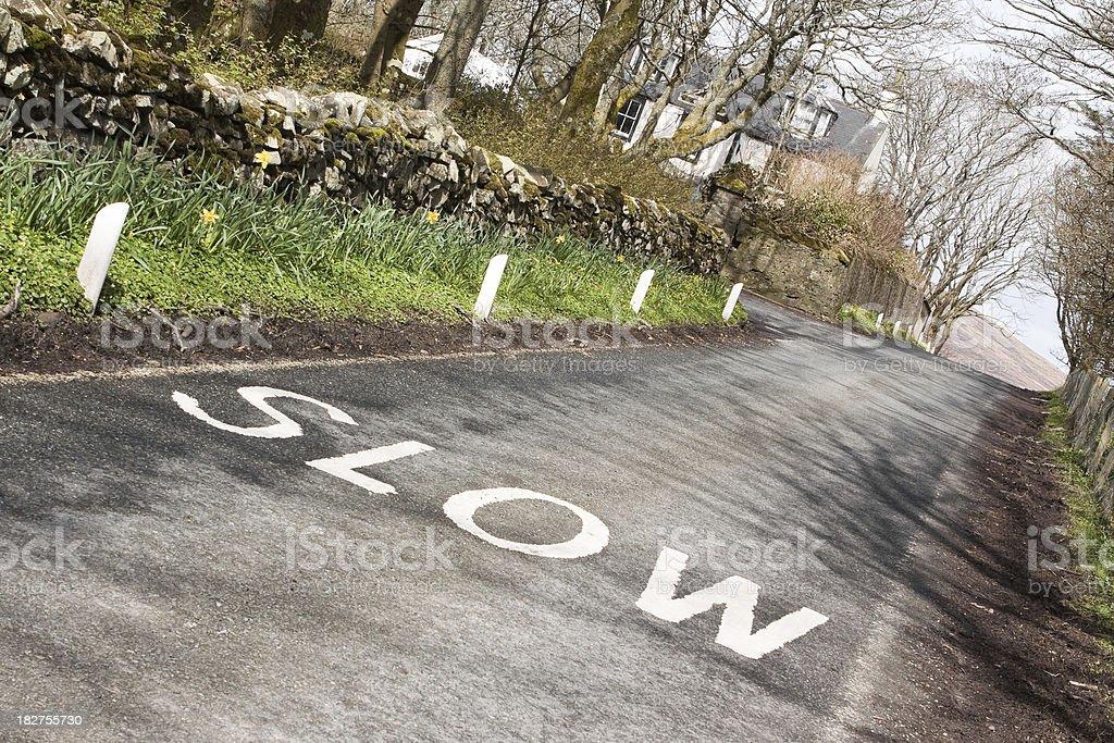Drive Slow royalty-free stock photo