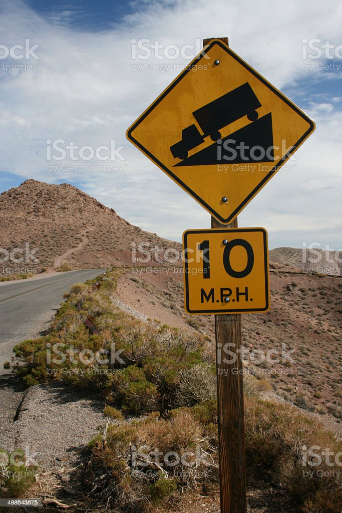 Drive slow sign stock photo