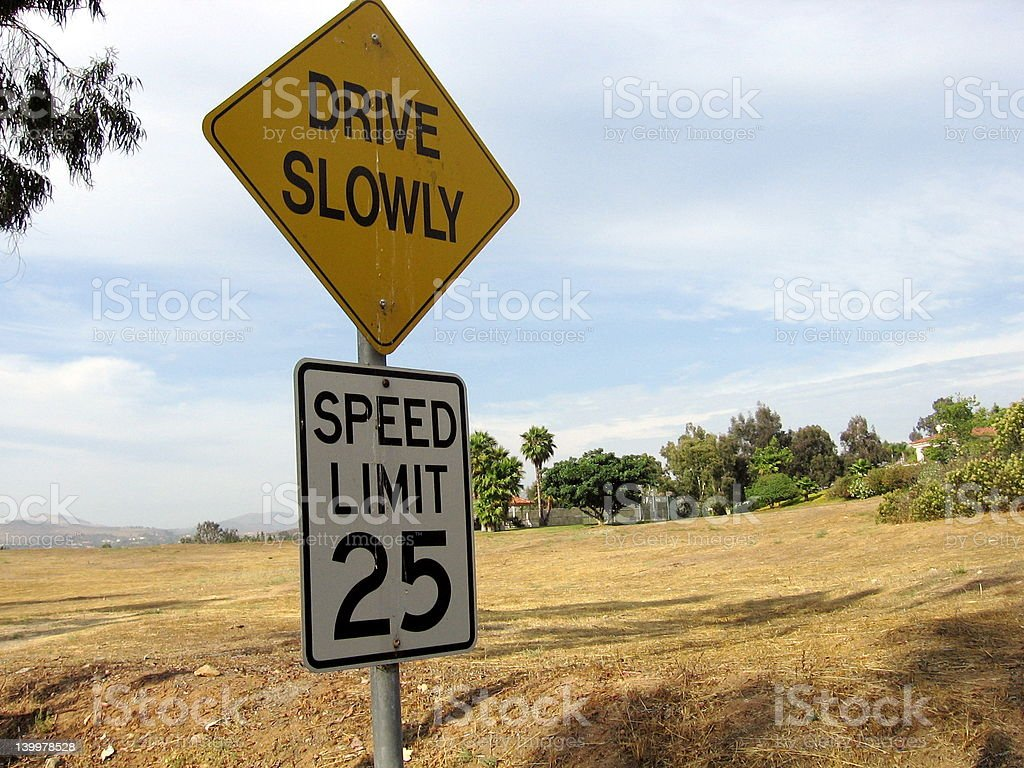 Drive Slowly royalty-free stock photo
