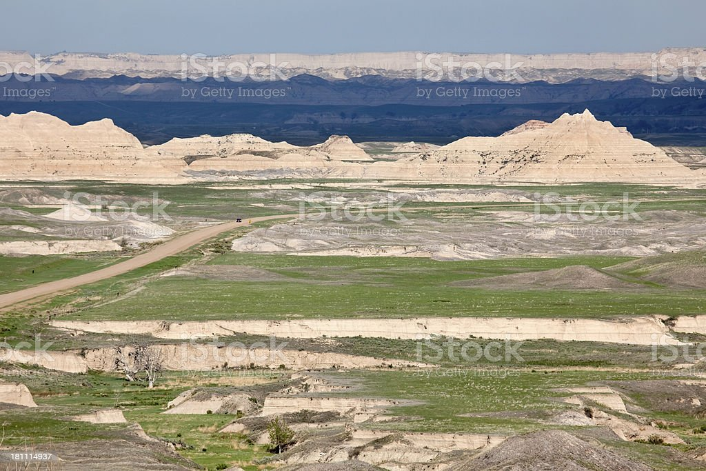 Drive through Stronghold Unit Badlands National Park royalty-free stock photo