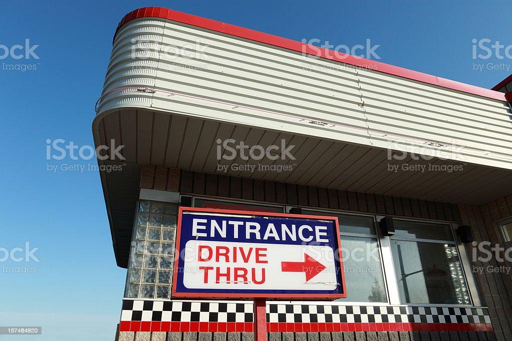 Drive thru architectuure stock photo