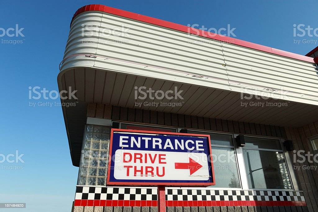 Drive thru architectuure stock photo