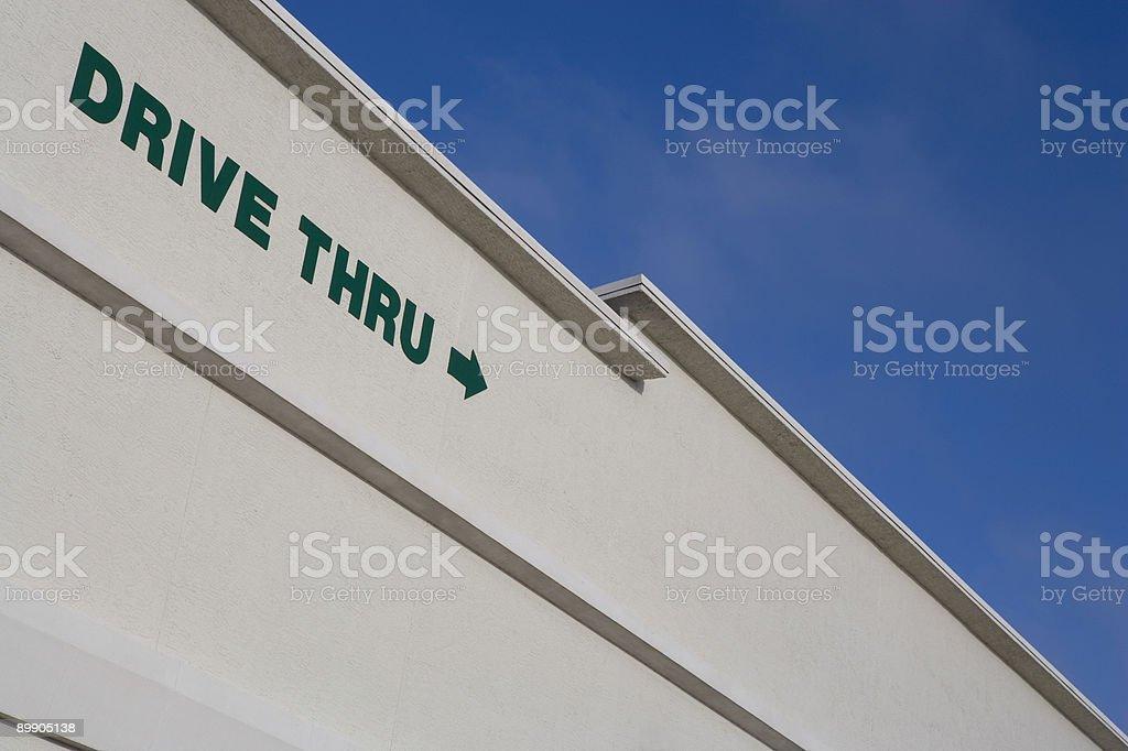 Drive Thru royalty-free stock photo