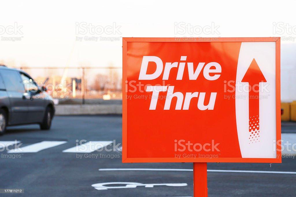 Drive Thru Sign stock photo
