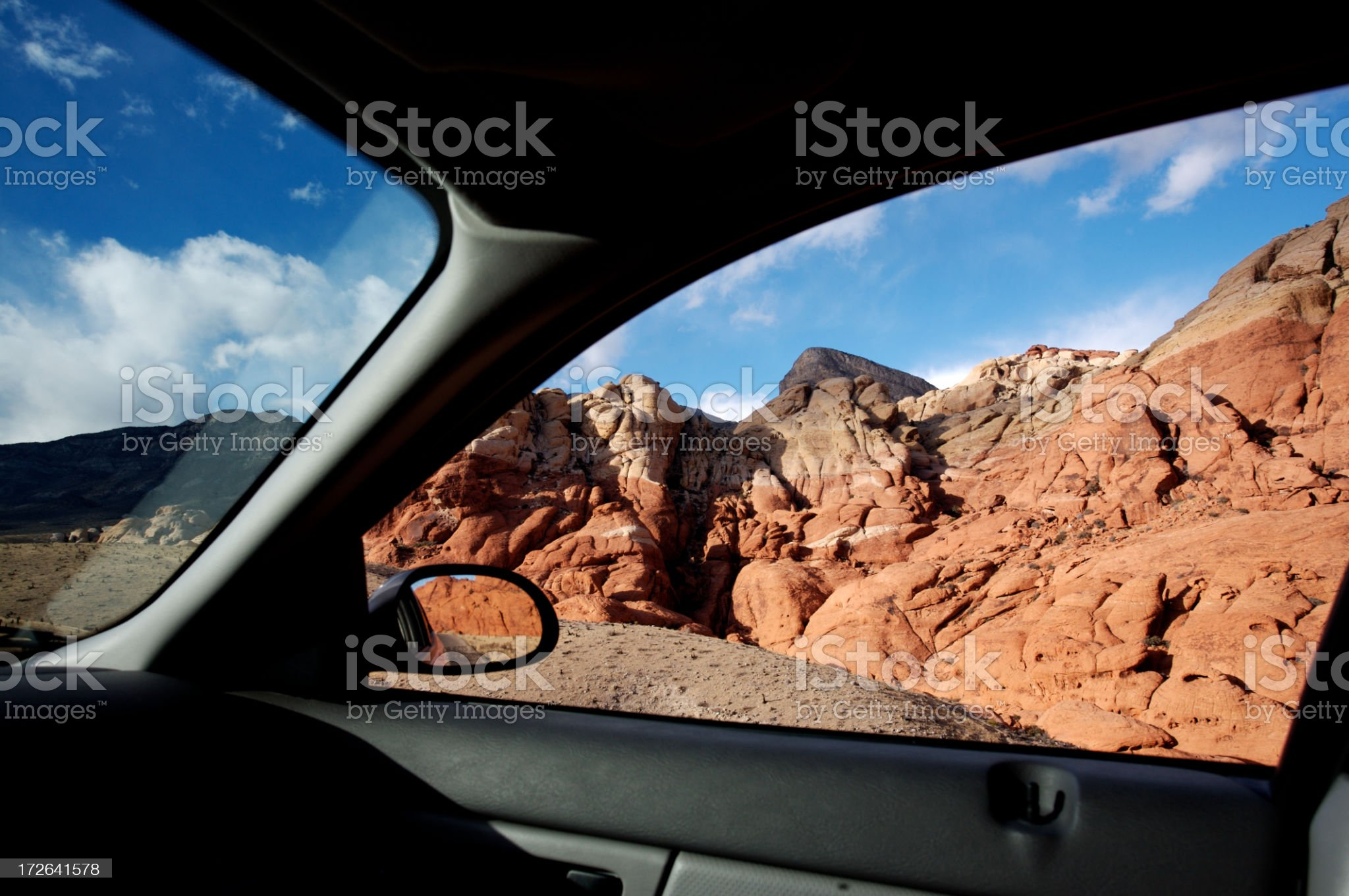 Drive to the Desert royalty-free stock photo