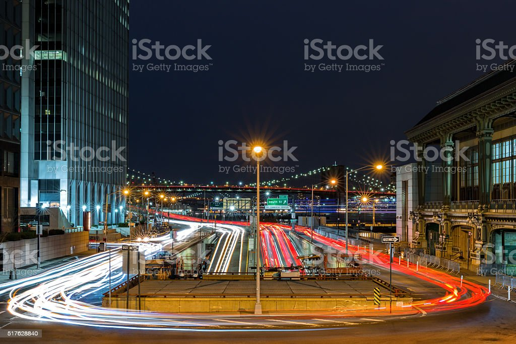 FDR drive traffic stock photo