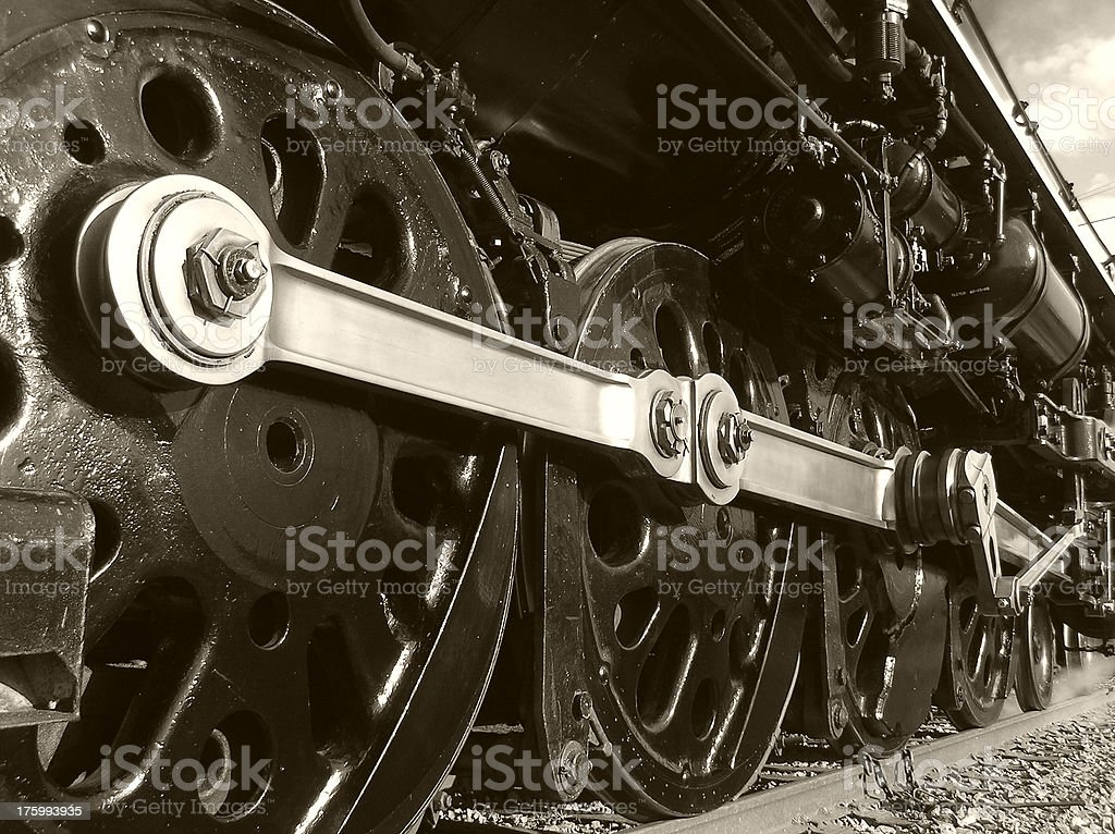 Drive Wheels of a Steam Train royalty-free stock photo