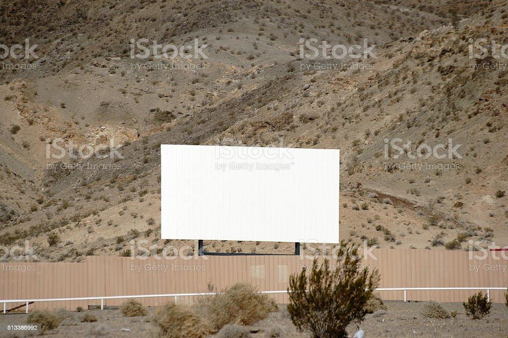 Drive-in cinema in the desert stock photo