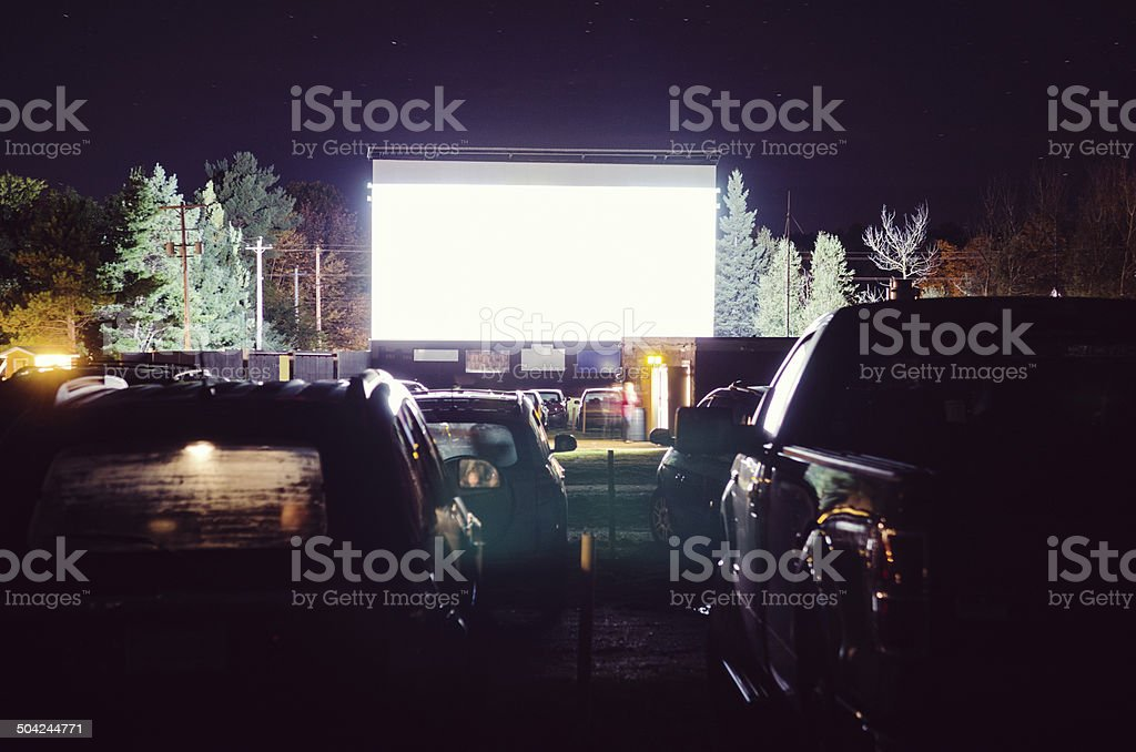 Drive-in Movie stock photo
