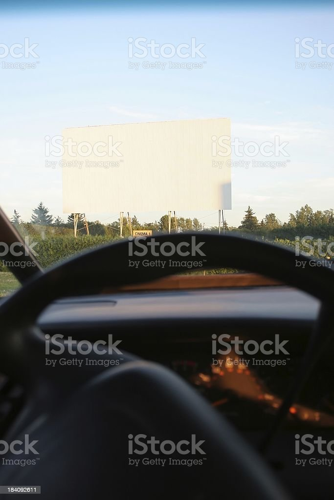 Drive-in royalty-free stock photo