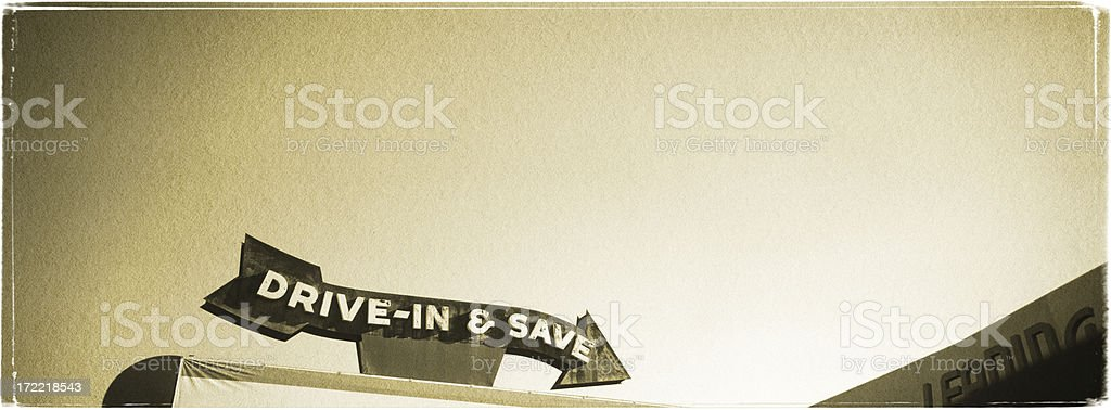Drive-in Sign - Vintage Look Series royalty-free stock photo