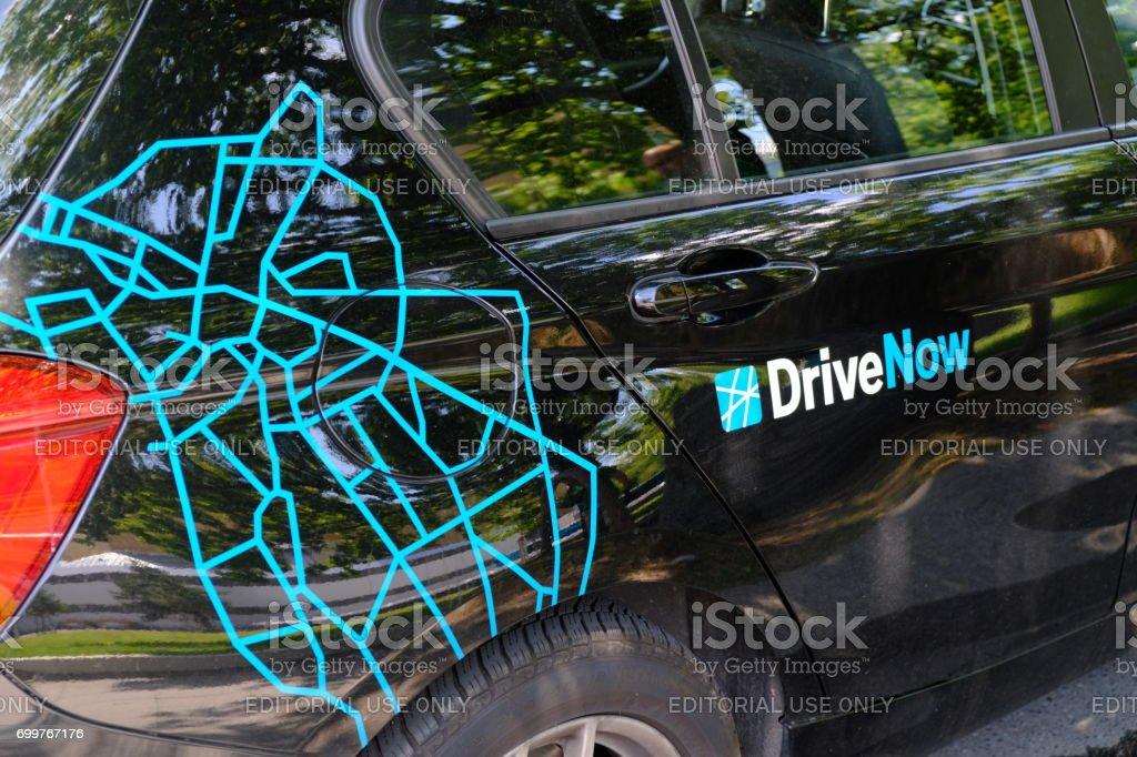 DriveNow car stock photo