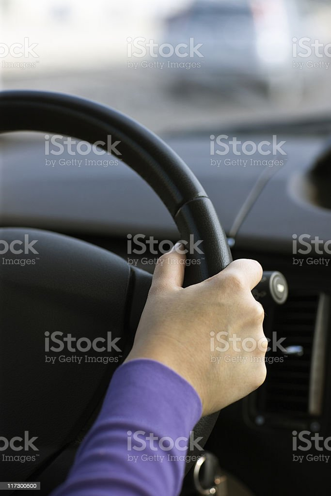 Driver a Car. Color Image royalty-free stock photo