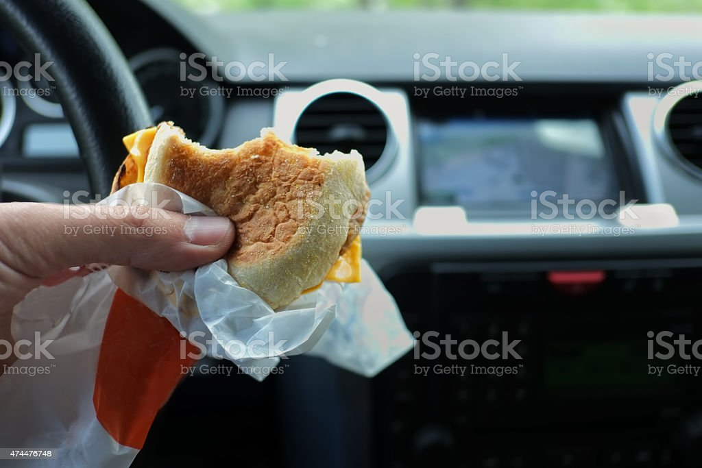 Driver Eating stock photo