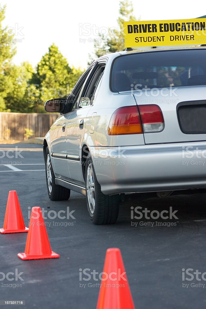 Driver Education Vehicle royalty-free stock photo