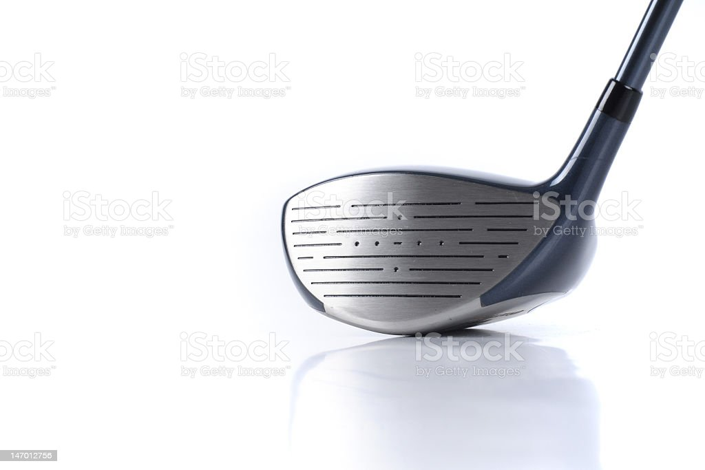 A driver from a set of golf clubs stock photo