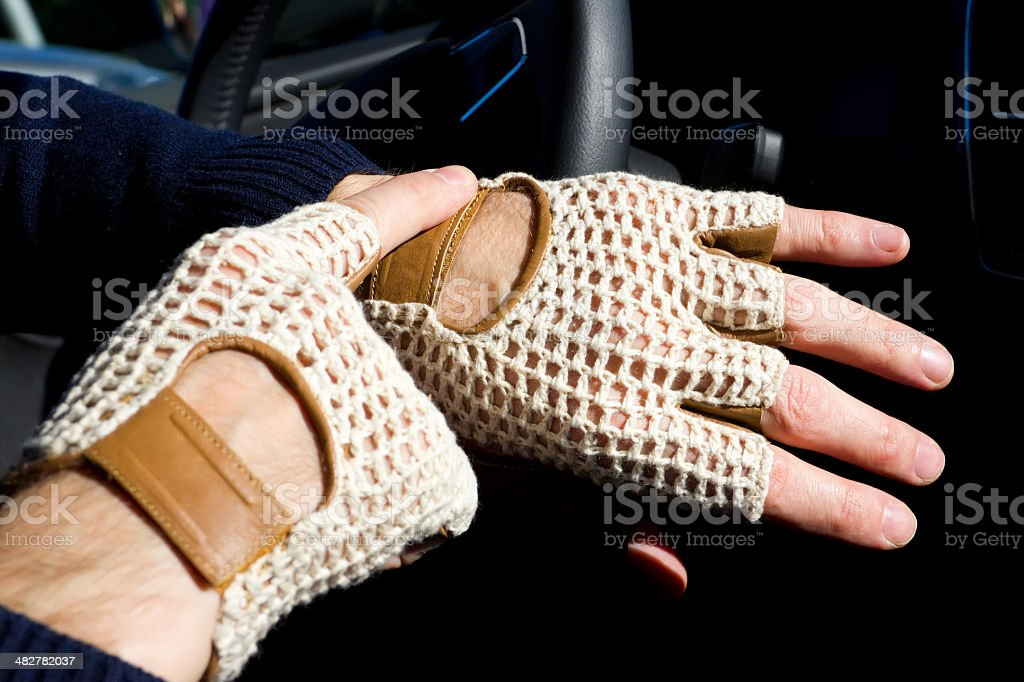 driver gloves stock photo