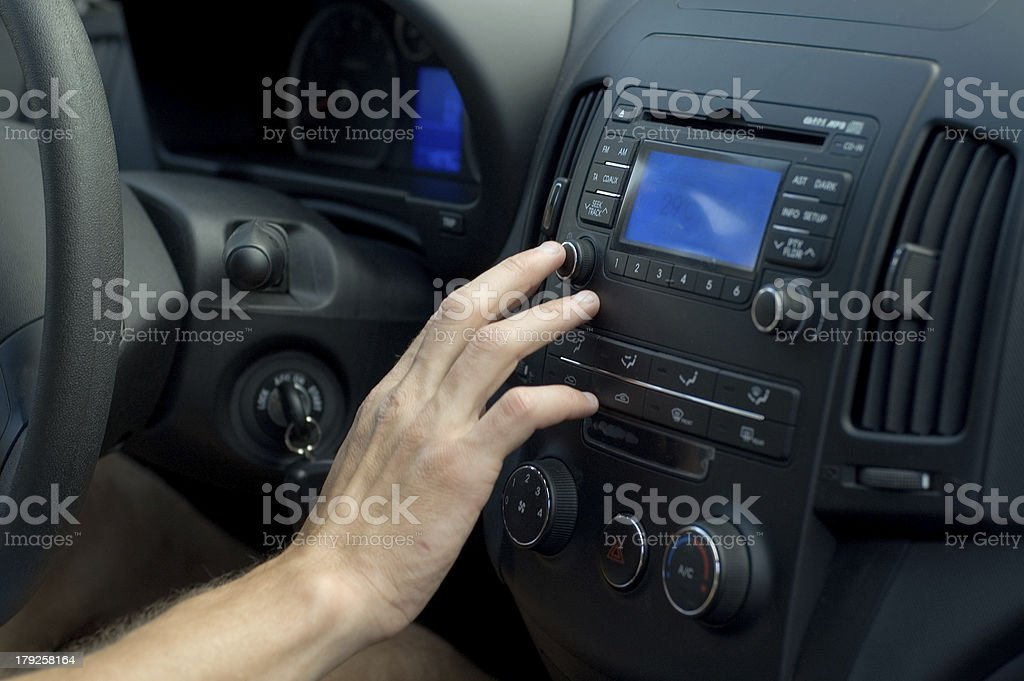 Driver is piloting stock photo