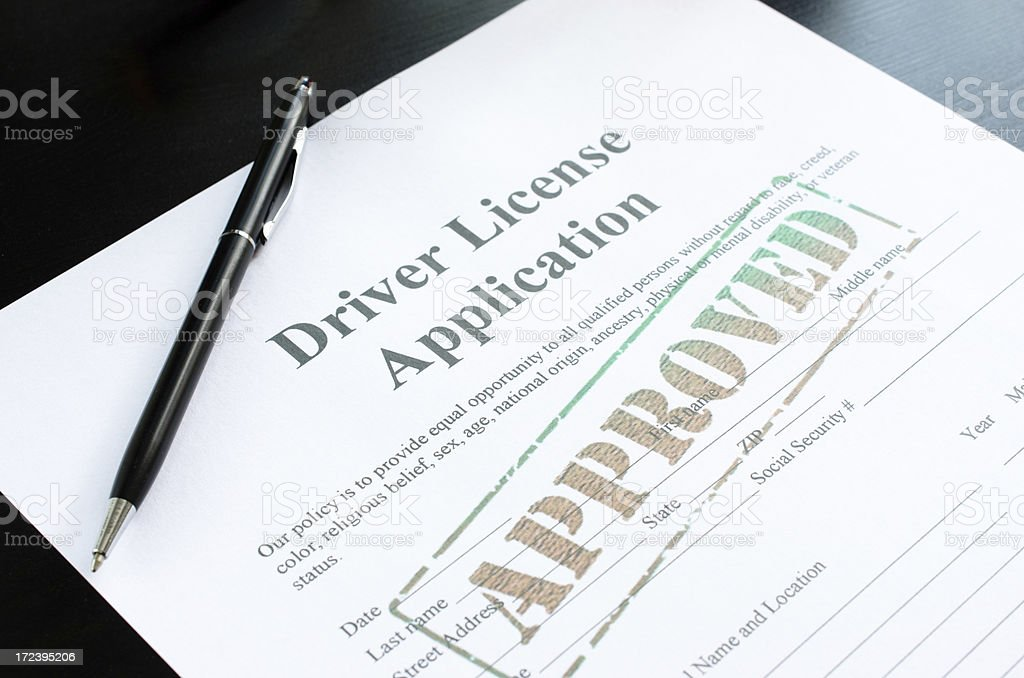 driver license application - approved royalty-free stock photo