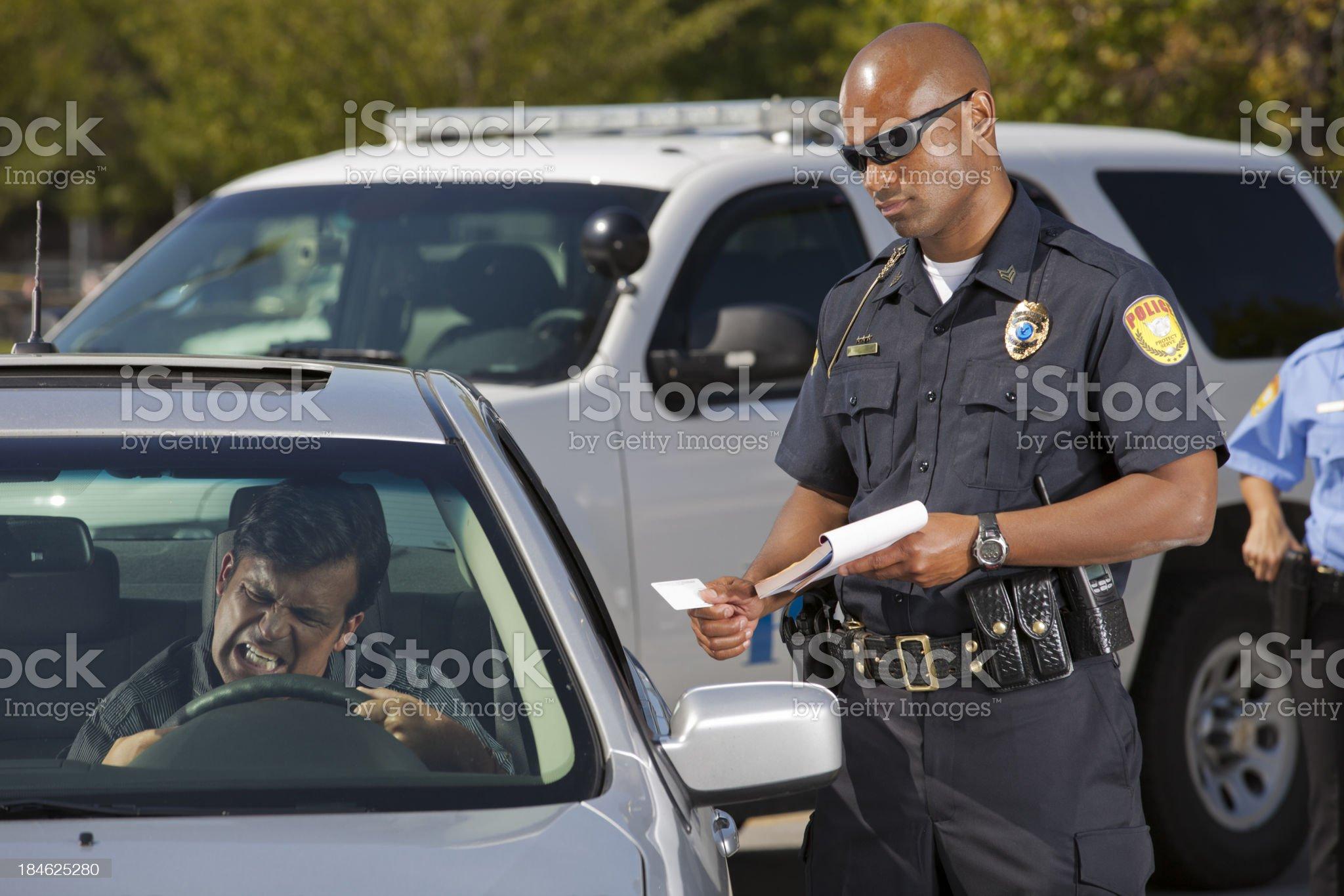 Driver mad at Citation royalty-free stock photo