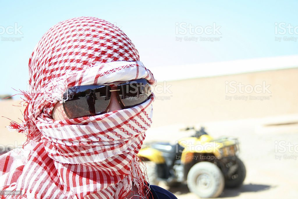 driver of ATV royalty-free stock photo